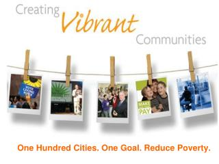 One Hundred Cities. One Goal. Reduce Poverty.