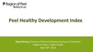 Peel Healthy Development Index