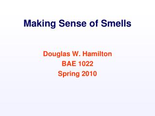 Making Sense of Smells