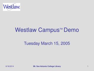 Westlaw Campus TM Demo