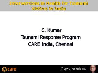 Interventions in Health for Tsunami Victims in India