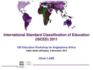 International Standard Classification of Education (ISCED) 2011