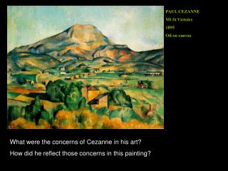 PAUL CEZANNE Mt St Victoire 1895 Oil on canvas