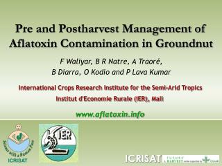 Pre and Postharvest Management of Aflatoxin Contamination in Groundnut