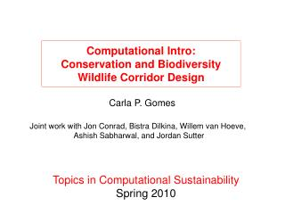 Computational Intro: Conservation and Biodiversity Wildlife Corridor Design