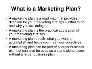 What is a Marketing Plan?