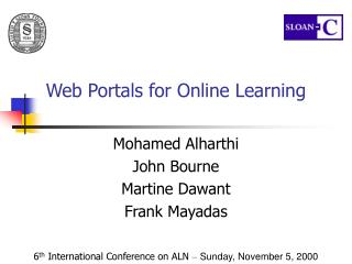 Web Portals for Online Learning