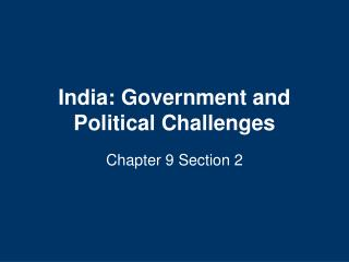 India: Government and Political Challenges