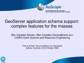 GeoServer application schema support: complex features for the masses