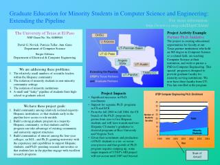 The University of Texas at El Paso NSF Grant No. No. 0080940