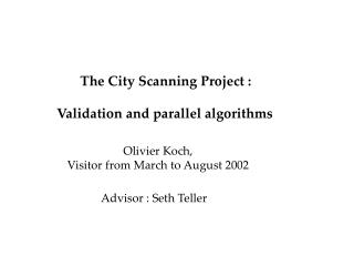 The City Scanning Project :