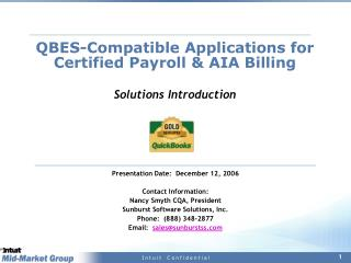 QBES-Compatible Applications for Certified Payroll & AIA Billing