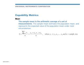 Capability Metrics