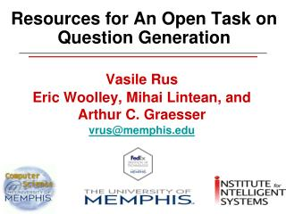 Resources for An Open Task on Question Generation