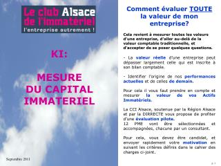 KI: MESURE  DU CAPITAL  IMMATERIEL