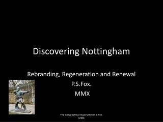 Discovering Nottingham