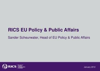 RICS EU Policy & Public Affairs