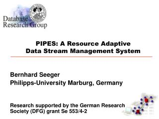 PIPES: A Resource Adaptive Data Stream Management System