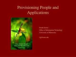 Provisioning People and Applications