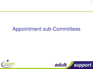 Appointment sub-Committees
