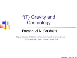 f(T) Gravity and  Cosmology