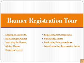 Banner Registration Tour