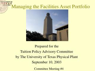 Managing the Facilities Asset Portfolio