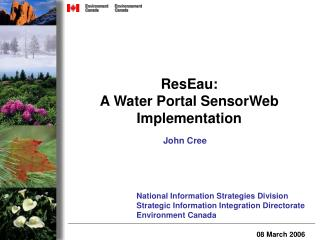 ResEau: A Water Portal SensorWeb Implementation