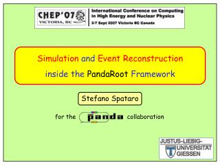 Simulation  and  Event Reconstruction inside the  PandaRoot  Framework