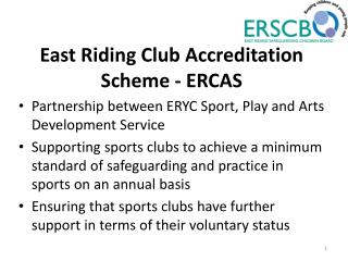 East Riding Club Accreditation Scheme - ERCAS