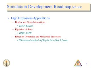 Simulation Development Roadmap  MP  HE