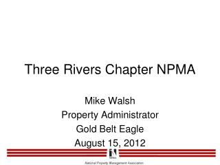 Three Rivers Chapter NPMA