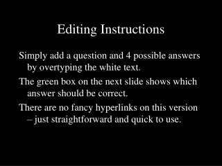 Editing Instructions