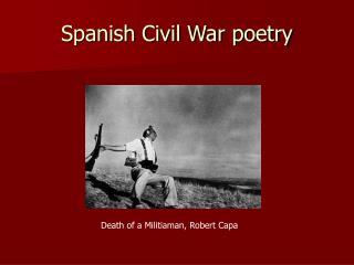 Spanish Civil War poetry
