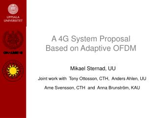 A 4G System Proposal Based on Adaptive OFDM
