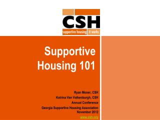 Supportive Housing 101