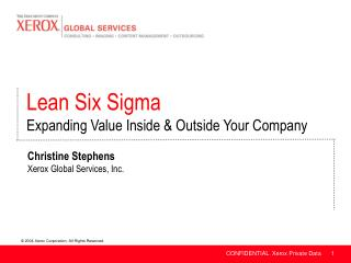 Christine Stephens Xerox Global Services, Inc.