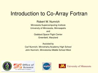 Introduction to Co-Array Fortran