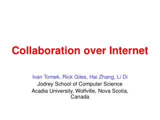 Collaboration over Internet