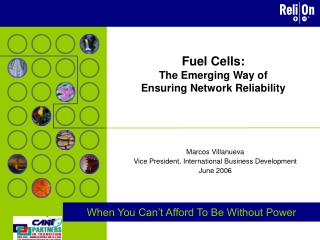 Fuel Cells:  The Emerging Way of Ensuring Network Reliability