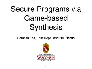 Secure Programs via Game-based Synthesis