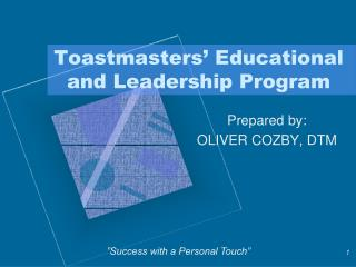 Toastmasters' Educational and Leadership Program
