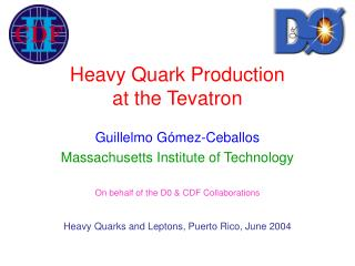 Heavy Quark Production  at the Tevatron