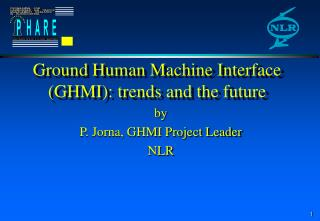 Ground Human Machine Interface (GHMI): trends and the future