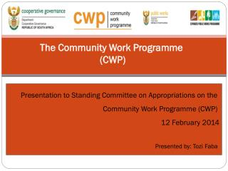 The Community Work Programme  (CWP)