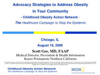 Scott Gee, MD, FAAP Medical Director, Prevention & Health Information