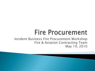 Fire Procurement