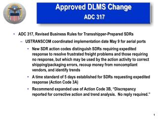 Approved DLMS Change ADC 317