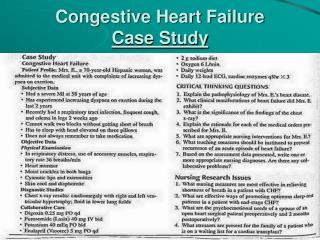 Congestive Heart Failure Case Study