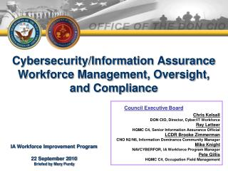 Cybersecurity/Information Assurance Workforce Management, Oversight, and Compliance